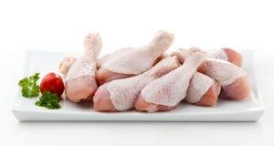 Bacchette di pollo grezze fresche Fotografia Stock