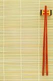 Bacchette su priorità bassa di bambù Fotografia Stock Libera da Diritti