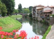 Bacchiglione River which crosses the Santa Croce district Italy Stock Photos