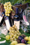 Bacchus - κρασί και σταφύλια Στοκ φωτογραφία με δικαίωμα ελεύθερης χρήσης