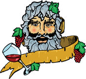Bacchus or Dionysus the god of wine Stock Photos