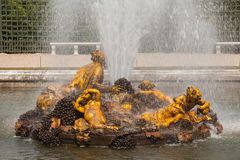 Bacchus Fountain (Autumn fountain) in gardens of Versailles pala Royalty Free Stock Photography