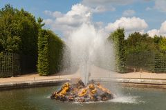 Bacchus Fountain in gardens of Versailles palace Stock Photo