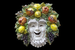 Bacchus mask Stock Photos