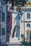Bacchus statue in Piazza del Popolo. In Rome, Italy Royalty Free Stock Image