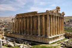 Bacchus temple at Heliopolis. Bacchus temple located at Heliopolis, Lebanon Royalty Free Stock Photos