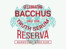 Bacchus Truth Serum Immagine Stock