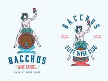Bacchus Wine Club ha colorato Fotografia Stock Libera da Diritti