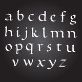 Bace Vector Ink Alphabet. calligraphy ABC Painted Letters. Painted Alphabet. Royalty Free Stock Photography