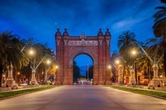 Bacelona Arc de Triomf Royalty Free Stock Image