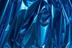 Bacgkground métallique plié par bleu d'abrégé sur aluminium photo libre de droits