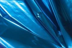 Bacgkground métallique plié par bleu d'abrégé sur aluminium photographie stock libre de droits