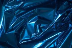 Bacgkground métallique plié par bleu d'abrégé sur aluminium photographie stock