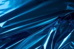 Bacgkground métallique plié par bleu d'abrégé sur aluminium photos stock