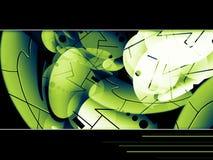 bacgkround πράσινη υψηλή τεχνολογί Στοκ Εικόνα