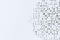 Bacgkround abstrait de cubes rectangulaires illustration 3D Image libre de droits