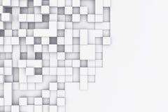 Bacgkround astratto dei cubi rettangolari illustrazione 3D Fotografia Stock
