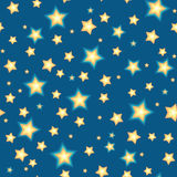 Bacgkround inconsútil con las estrellas de la historieta Ilustración del Vector