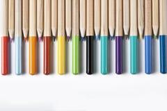 bacground色的铅笔 库存照片