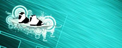 Bacground змея и wakeboard Стоковые Фото