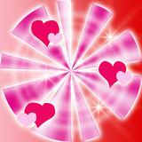 Bacground com corações Fotografia de Stock Royalty Free