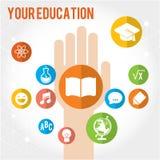 Bacground da educação de Chlidren com lugar para o texto Fotografia de Stock Royalty Free