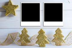 Bacground de la Navidad con un espacio para el texto Fotografía de archivo libre de regalías