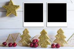 Bacground de la Navidad con un espacio para el texto Foto de archivo