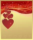 Bacground de la tarjeta del día de San Valentín Foto de archivo