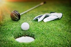 Bacground di golf Fotografie Stock Libere da Diritti