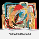 Bacground floreale del fumetto di scarabocchio di vecctor di riserva modello per la baia Fotografia Stock