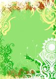 Bacground verde da mola de Grunge Fotos de Stock Royalty Free