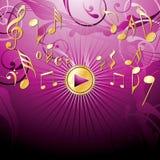 bacgroundmusikalpink royaltyfri illustrationer