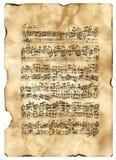 Bach, C-Moll de Fuga que comienza Imagenes de archivo