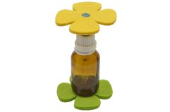 Bach flower remedies and felt decoration Stock Image