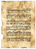 Bach, Fuga początkujący Moll Obrazy Stock