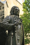 Bach Monument in Leipzig, Germany. Monument for Johann Sebastian Bach in front of the Thomas Church (Thomaskirche), Leipzig, Saxony, Gernay Royalty Free Stock Images