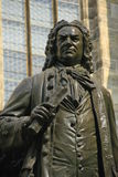 Bach Monument in Leipzig, Germany. Monument for Johann Sebastian Bach in front of the Thomas Church (Thomaskirche), Leipzig, Saxony, Gernay Stock Photography