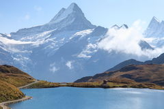 Bachalpsee and Jungfrau massif Royalty Free Stock Images