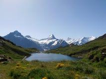 Bachalpsee Svizzera Fotografia Stock Libera da Diritti