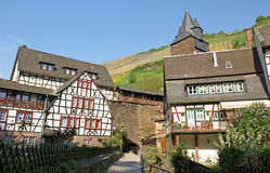Bacharach building. Medieval buildings in Bacharach, Rhineland Stock Photography