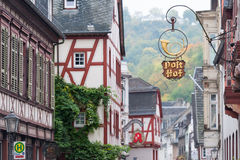 Bacharach downtown Stock Images