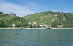 Bacharach,Middle Rhine Valley,Germany. View of Bacharach in Middle Rhine valley near Loreley,Rheingau,Rhine River,Rhineland-Palatinate,Germany royalty free stock photography