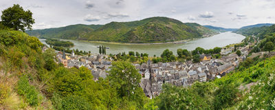 Bacharach and Rhine River, Germany Royalty Free Stock Photos