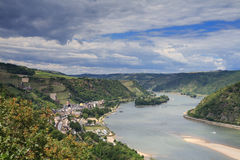 Bacharach at the Rhine Valley Stock Images