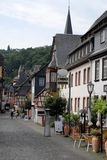 Bacharach's main street along the Rhine Valley in Germany. Photo taken in a center called Bacharach along the Rhine valley in Germany. In the picture you see the Stock Photo