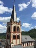 Bacharach stad, Tyskland Iphone panorama Arkivfoto