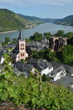 Bacharach wit river rhine in Germany Stock Photo