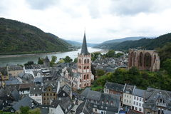 Bacharch on the Rhein River Royalty Free Stock Image