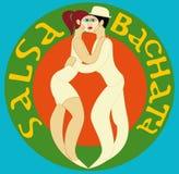 Bachata da salsa Ilustração Stock